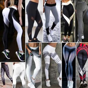 Femmes Leggings Jambière Sport Yoga Gym Aptitude Pantalon Collant Moulant Skinny