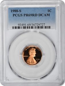 PR69RD DCAM 1988-S Lincoln Cent PCGS