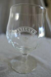 "Vintage Baileys Irish Cream Etched Footed Snifter Brandy Liquor Bar Glass 4.75"""