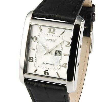 Elegante MARQUIS Funkuhr Armbanduhr Edelstahl Deutsche Funktechnologie 964.4714