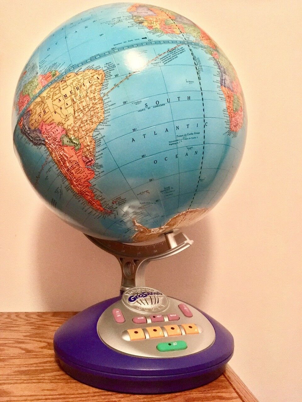 Near-New GeoSafari Talking Globe (by Educational Insights) with Original Box