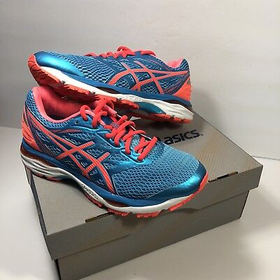 Asics Gel Cumulus 18 Women AquriumFlash CoralBlue Jewel Running Shoes