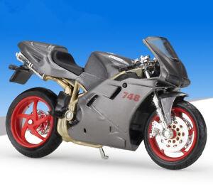 1 18 maisto ducati 748 motorcycle bike model gray ebay rh ebay com Tron Ducati Ducati Wallpaper