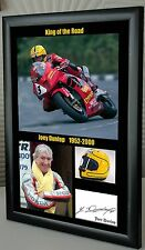 "Joey Dunlop TT Motor Cycle Framed Canvas Signed ""Great Gift"""