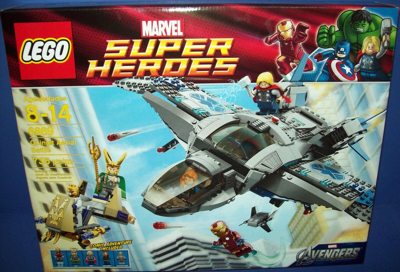 LEGO 6869  Super Heroes Marvel Avenger's QUINJET AERIAL BATTLE NISB new retirosso
