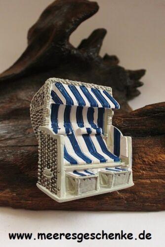 Magnet maritim als 3D-Strandkorb ca 6 x 5 cm Polystone