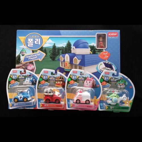 Ensemble de jeu Robocar Poli Rescue Station Center Centre Figures Amber Helly
