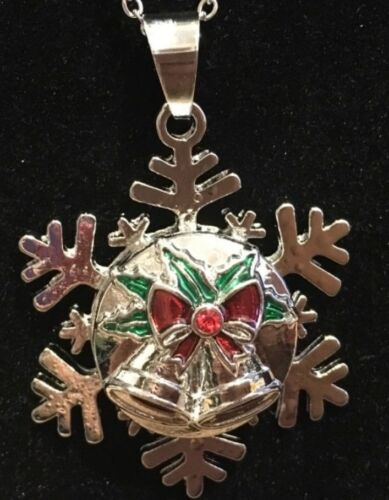 Snap Jewelry Christmas Pendant Silver Snow Flake 18mm-20mm New