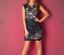 RRP £ 55 L Psy pour femme Bleu Marine Et Dentelle Scallop Dress-Brand new without tags