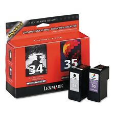 Lexmark 34 Black & 35 Color Print Cartridge Super Pack - 18C0535