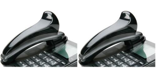"SKILCRAFT CurvedPlastic Telephone Shoulder Rest 7x2x2-12/"" Height Black 2 Packs"