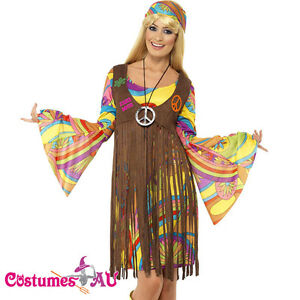 Ladies-1960s-Retro-Groovy-Costume-Hippie-Hippy-Lady-60s-70s-Disco-Fancy-Dress