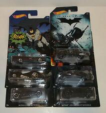 2014 Hot Wheels Walmart Exclusive Batman Complete Set of 6 Batmobile Bat-Pod