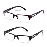 Half Frame Clear Lens Glasses Black Or Brown Stylish Sophisticated Look 7 Colors