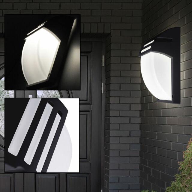 Design Außen Wand Leuchte Hof Park Beleuchtung Edelstahl Strahler Haus Tür Lampe