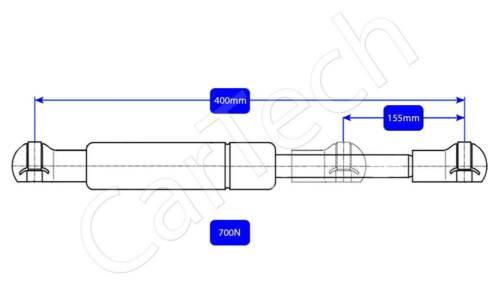 Gaz Universel Strut Printemps 400 mm 700N boot bonnet pour Multi Usage œillets fin