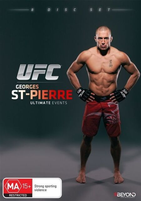 UFC - Georges St Pierre - Ultimate Events (DVD, 2015, 8-Disc Set) LIKE NEW REG 4