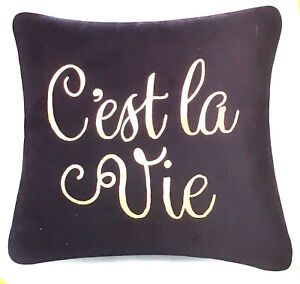 Image Is Loading French Black Modern Decorative Throw Pillow Cover C