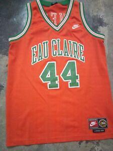 Rare-Jermaine-O-039-neal-Eau-Claire-H-S-Basketball-jersey-Nike-M-size