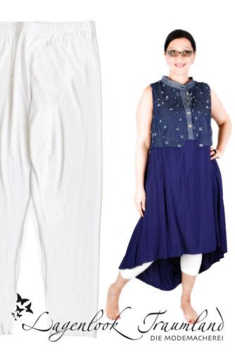 MAT Fashion Lagenlook HOSE LEGGINGS Gr 42 44 46 48 50 52 weiß