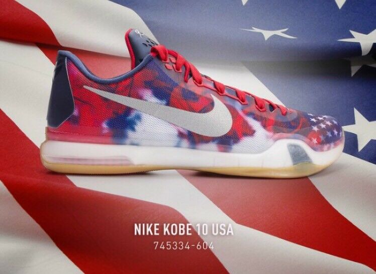 Nike Kobe X 10 OLYMPICS sz 16 July 4th Team USA Basketball Shoes Red White Blue
