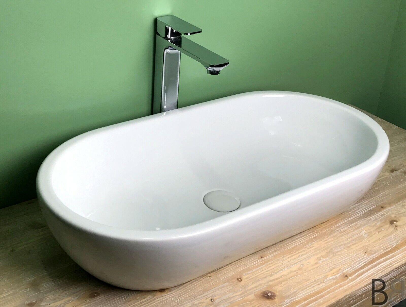 Lavabo appoggio ovale Made in  GSI alta qualita cm 70