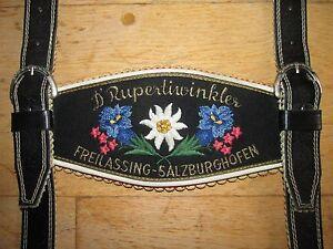 BÄrige D´rupertiwinkler Freilassing-salzburghofen Lederhosen-trÄger,top Zustand Mild And Mellow Trachtenmode