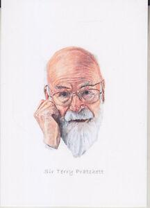 C1 Carte Postale Dessin Jullian Auteur Sf Sir Terry Pratchett Dernier Style