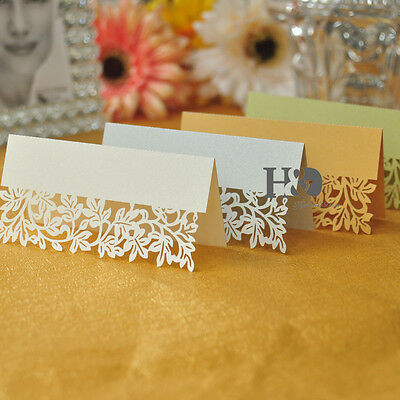 Leaf Wedding Place Name Cards Personalised/Tableware/Seating /4 Colour Decor