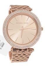 Michael Kors MK3192, Sleek Design, Full Rose Gold Studded Bezel Watch for Women