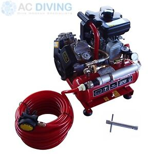 Details about Nardi Diving Hookah / Compressor  Extreme Petrol with Hose &  Regulator 270lpm