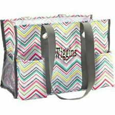 NEW in Woodblock 31 Thirty One organizing Utility tote gift shoulder mummy bag
