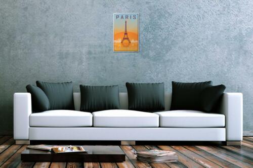 Blechschild Stadt Paris Frankreich