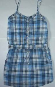 Womens-AEROPOSTALE-Plaid-Pintuck-Woven-Henley-Dress-NWT-8663