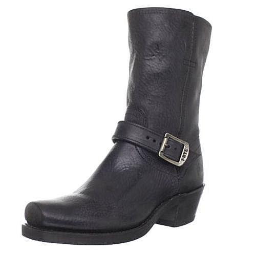 vendita scontata Frye HARNESS HARNESS HARNESS Strap nero Pebbled Leather Short Ankle Cowboy stivali scarpe 9.5 NEW  confortevole