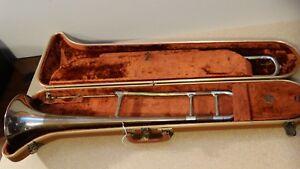 Fe Olds Trombone-deux Tons-studio-afficher Le Titre D'origine 100% D'Origine