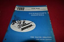 Ford Tractor Dozer Blade 70 & 75 Lawn & Garden Tractor Operator's Manual YABE11