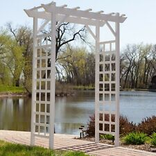 wedding arch pergola garden trellis vinyl arbor outdoor patio
