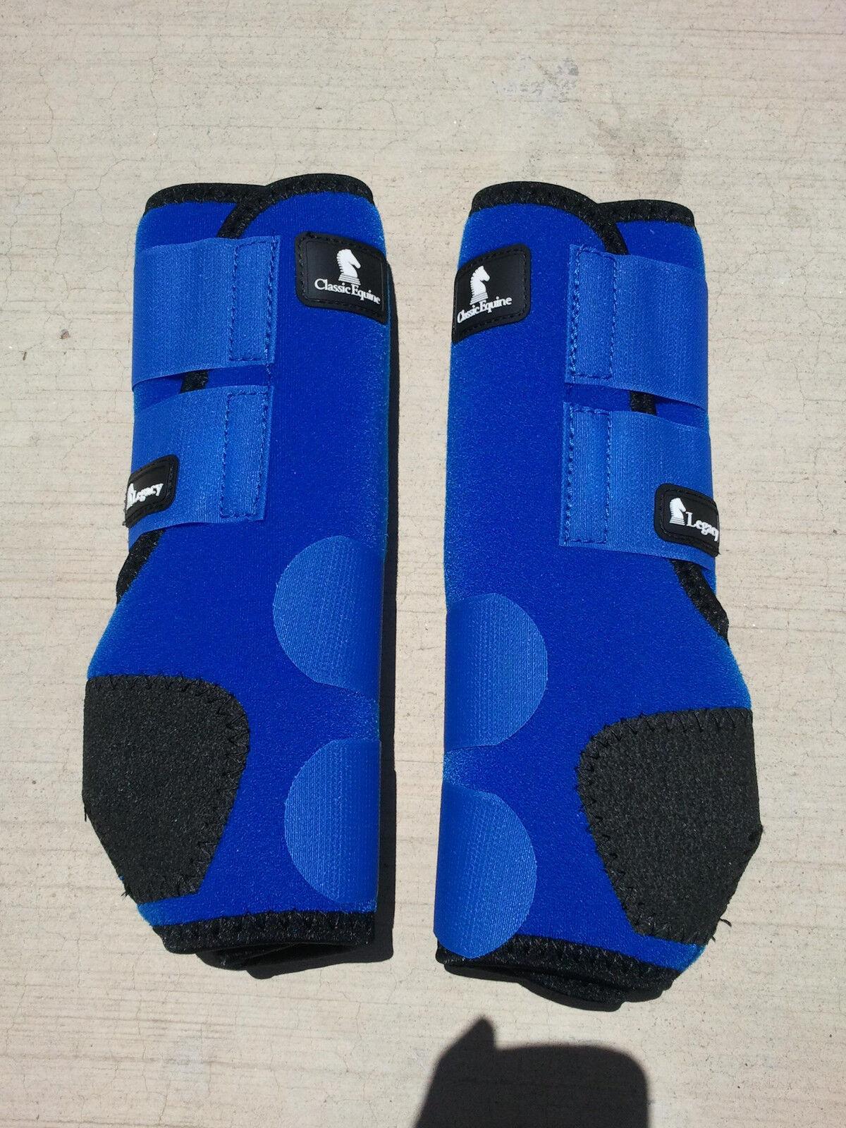 Classique Équin Héritage bottes bleu avant Harnachement Cheval Smb