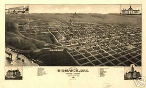 1883-Bismark-BURLEIGH-Co-County-ND-North-Dakota-Map-r2