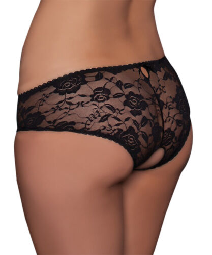 Christmas Women Crotch Less Briefs In wear Knickers French Open Crotch Lingerie