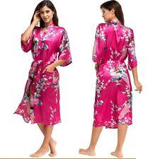 item 2 Silk Satin Kimono Robe Dressing Gown Wedding Bridesmaid Sleepwear  Bathrobe UK -Silk Satin Kimono Robe Dressing Gown Wedding Bridesmaid  Sleepwear ... 82013a958