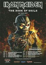 5x IRON MAIDEN promo FLYERS live 2017 book of souls UK concert tour