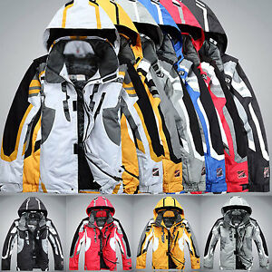 Men-039-s-Winter-ski-suit-Jacket-Waterproof-Coat-snowboard-Snowsuits-Clothing-Hooded