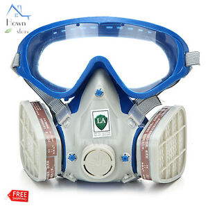 Silicone Full Face Respirator Gas Mask Goggles Comprehensive Cover Paint Dust