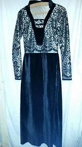 Capable Rétro Vintage? Asiatique Doré Et Velours Noir Robe 34 Tour De Poitrine-afficher Le Titre D'origine