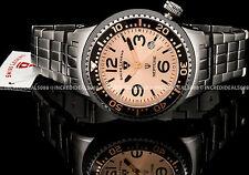 Swiss Legend Men Neptune Force Swiss Rose Gold Tone Dial Gunmetal IP SS Watch
