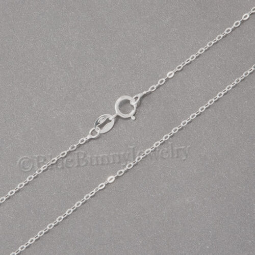"""18/"""" Pretty 925 STERLING SILVER chain for Necklace pendant charm 1.3mm  0.7gr"""