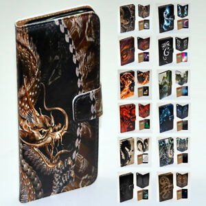 For-Huawei-Series-Mobile-Phone-Dragon-Theme-Print-Wallet-Phone-Case-Cover-2