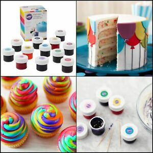 Details about Wilton Icing Colors 12-Count Gel-Based Food Color Rainbow  Colours Cake PRETTY